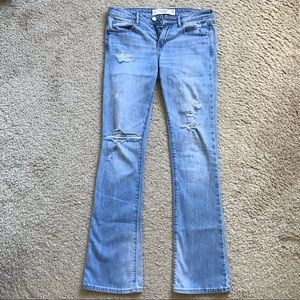 ABERCROMBIE & FITCH RIPPED SKINNY BOOT JEANS